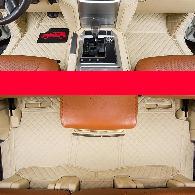 Lsrtw2017 волокно кожаный салон автомобиля коврик для toyota land cruiser 2009 2010 2011 2012 2013 2014 2015 2016 2017 2018 lc200