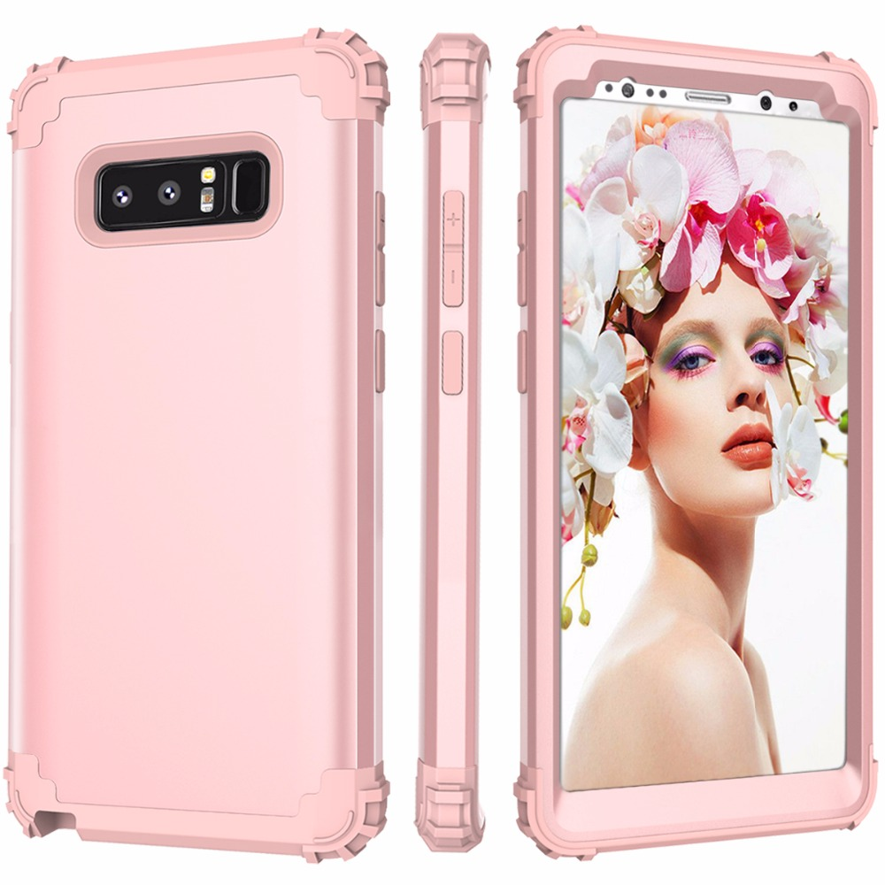Note 8 Phone Case Heavy Duty High Impact Resistant Hybrid PC Rubber Protective Cover Case For Samsung Galaxy Note 8 Coque Capa