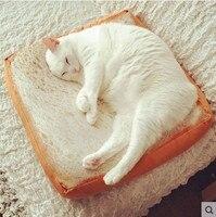 Creativo Pane Tostato Cuscino del Sedile per le Donne Adulte e Il Suo Animale Domestico Cane gatto con Interno Riempito di Materiale Morbido Poliestere Cuscino Giocattolo 40 cm