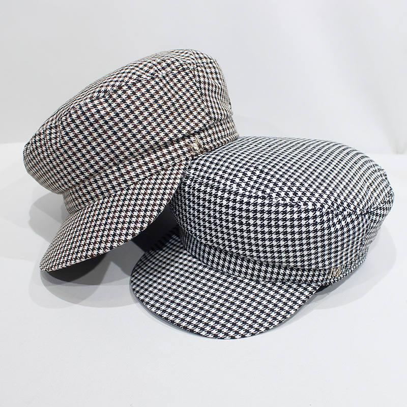 Bekleidung Zubehör Ldslyjr 2019 Plaid Druck Achteckige Hüte Für Frauen Und Mädchen Berets Maler Hut Beanie Cap 04