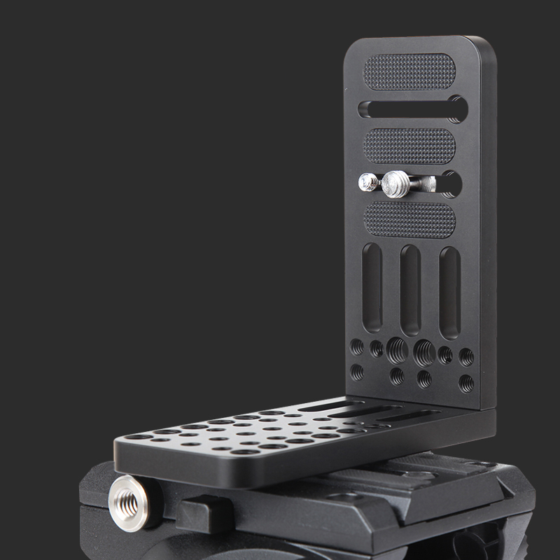 Jieyang vertical L-shaped quick-loading SLR camera camera tripod Universal quick-loading plate for Sony <font><b>MC2500</b></font> PXW-FS7K image