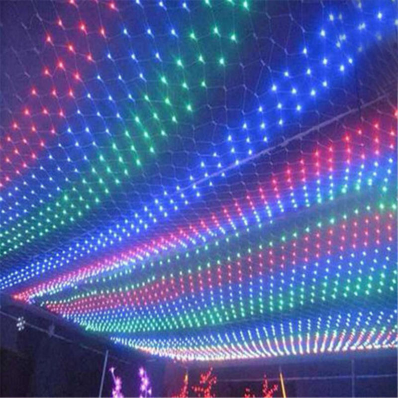 String Lights 1.5M 2M 3M 200LEDs Net Mesh Fairy Twinkle flash lamp Home Garden Christmas Wedding Xmas tree Party Garland Decora ...
