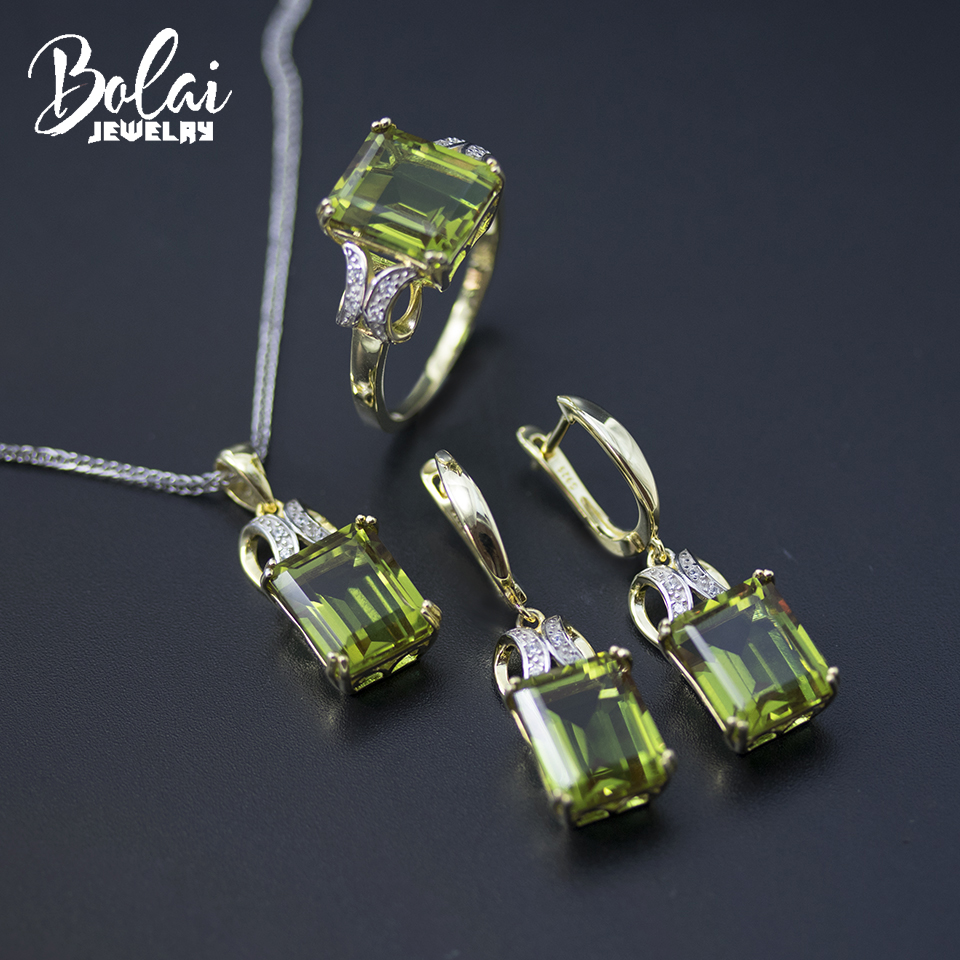 Bolai Nano Diaspore Jewelry Sets 925 Sterling Silver Color Change Zultanit Ring Pendant Earrings For Women Gemstone Wedding New