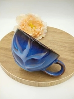 Deep Leaves Blue Coffee Cups Retro Ceramic Personalized Creative Cups Coffee Cups