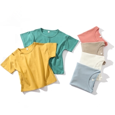3-10y children summer clothes t-shirt short sleeve boys and girls clothing casual loose tshirt o-neck ropa de ninos
