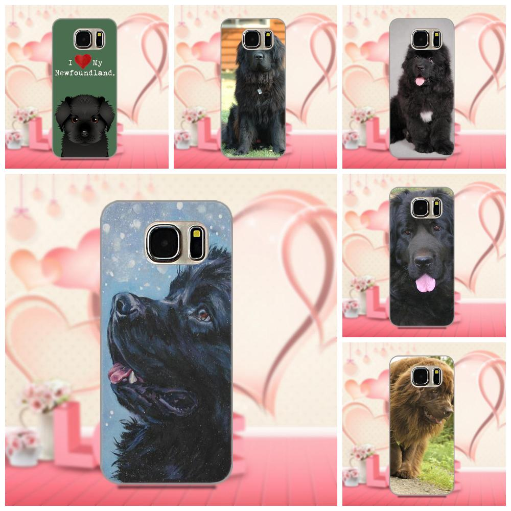 Oedmeb Newfoundland Собака Щенок Мягкий Топ продаж для Galaxy A3 A5 A7 J1 J3 J5 J7 2016 2017 S5 S6 S7 S8 S9 edge Plus