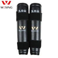 Wesing Shin Guards Leg Protective Gear Knee Pad Holder Straps Muay Thai Taekwondo Karate kickboxing Black Knee Support (Pair)