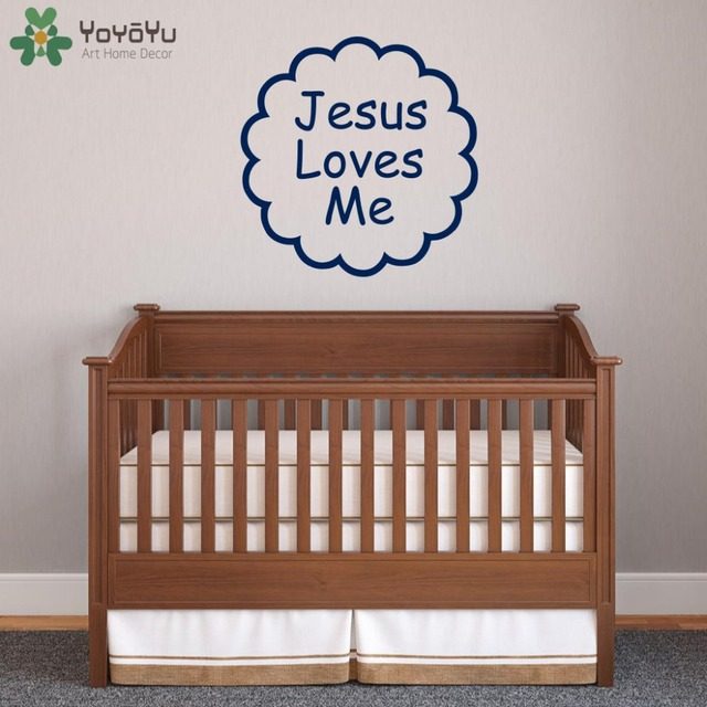 Religious Wall Decal Quotes Loves Me Removable Stickers Home Baby Room Decor Bedroom Art