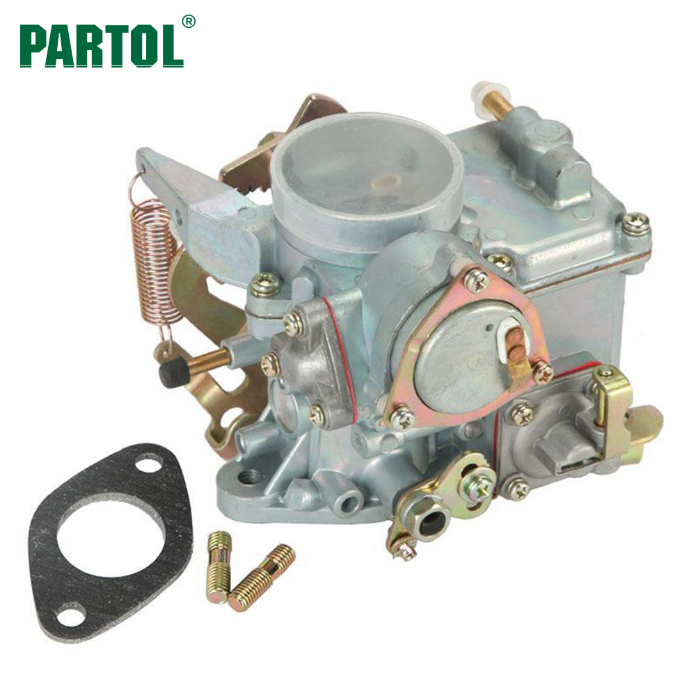 Partol Car Carburetor Carb Engine Replacement Part 34 PICT-3 E-choke for VW Volkswagen Air-cooled Type 1 Dual Port 1600cc Engine 690115 carburetor carb replacement gasket accessories set kit replacement fit for 690111