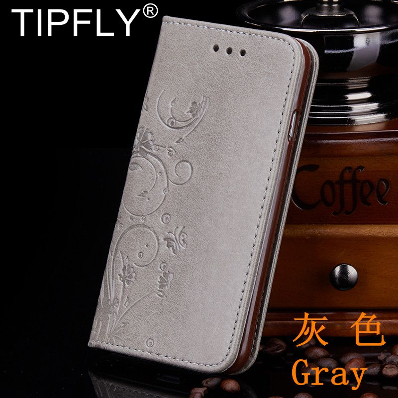 TIPFLY For iPhone 5 5S SE PU Leather Wallet Plain Case for Apple iPhone 6 6S 7 8 Plus Flip Cover Embossed Butterfly Case Capa