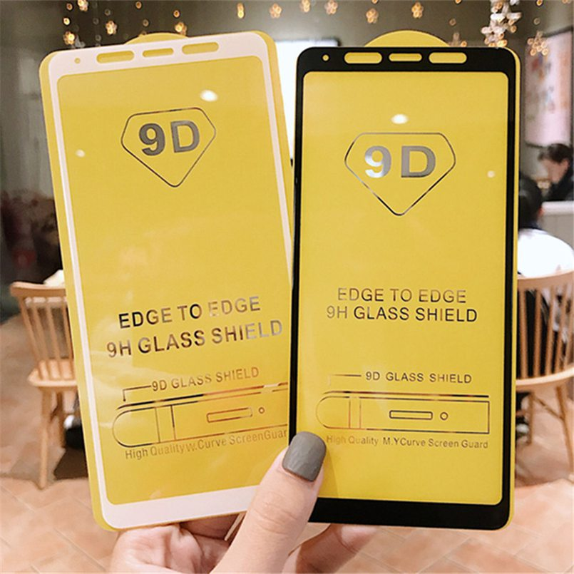 5D/9D For Samsung Galaxy A5 A6 A7 A8 J2pro plus 2018 A750 Tempered Glass For J2 pro 2018 Screen Protector Full Cover Glass Film-in Phone Screen Protectors from Cellphones & Telecommunications