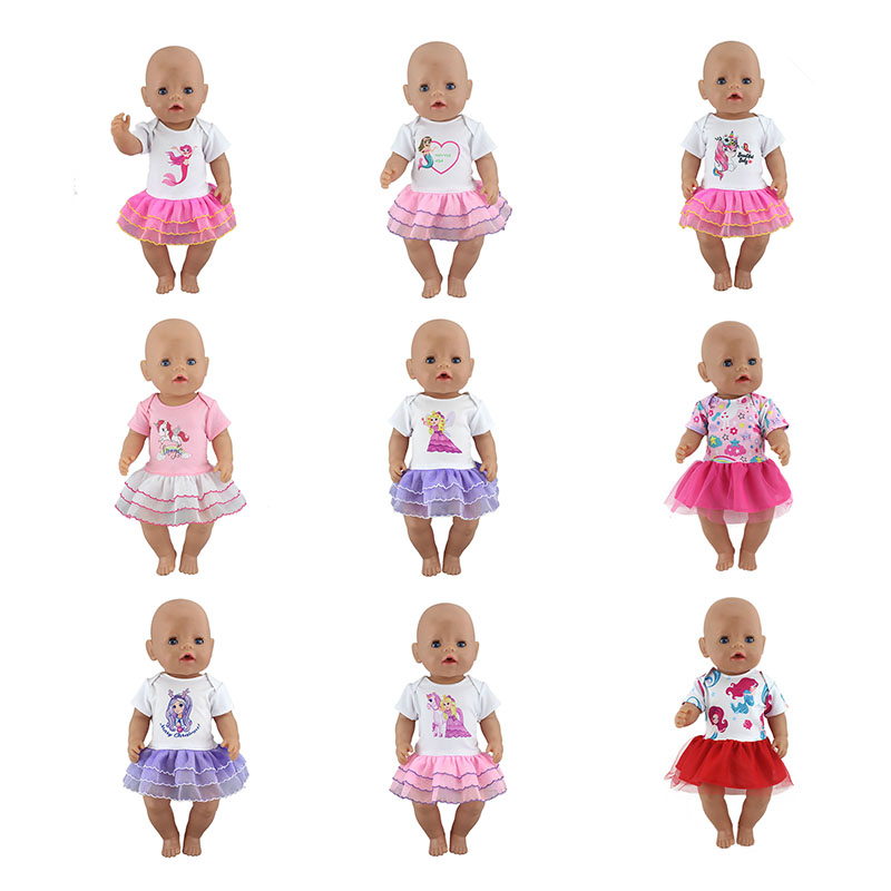 New Dress Doll Clothes Fit For 43cm Baby Doll Clothes Reborn Doll Accessories
