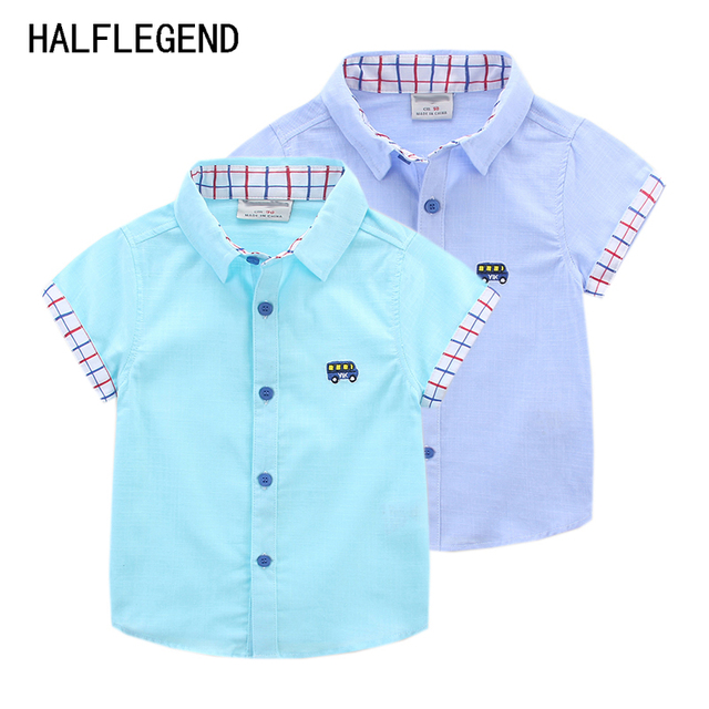66f1671146531f New 2017 boys shirts baby clothes Summer Shirt for boy 6-7-8yrs children's