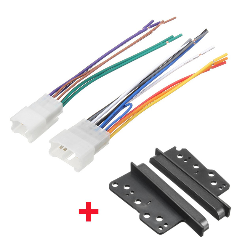 online get cheap radio wiring harness aliexpress com alibaba group car stereo cd player radio 2 din dash frame trim w wire wiring harness