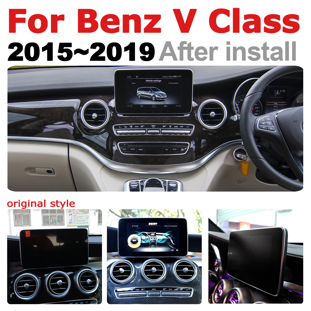 Car Radio 2 din GPS Android Navigation ForMercedes Benz V Class 2015-2019  AUX Stereo multimedia touch screen original style2