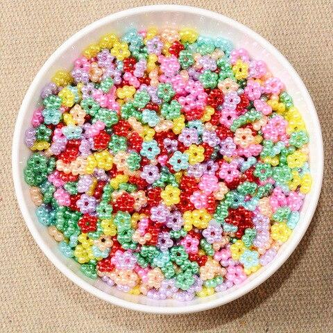9 мм смешанные цвета пять жемчужных бусин Швейные Кнопки diy