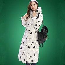 2016 Новая Зимняя Куртка Женская Мода Долго Вниз Пальто Большой Размер Куртка Дамы С Капюшоном Теплая Верхняя Одежда