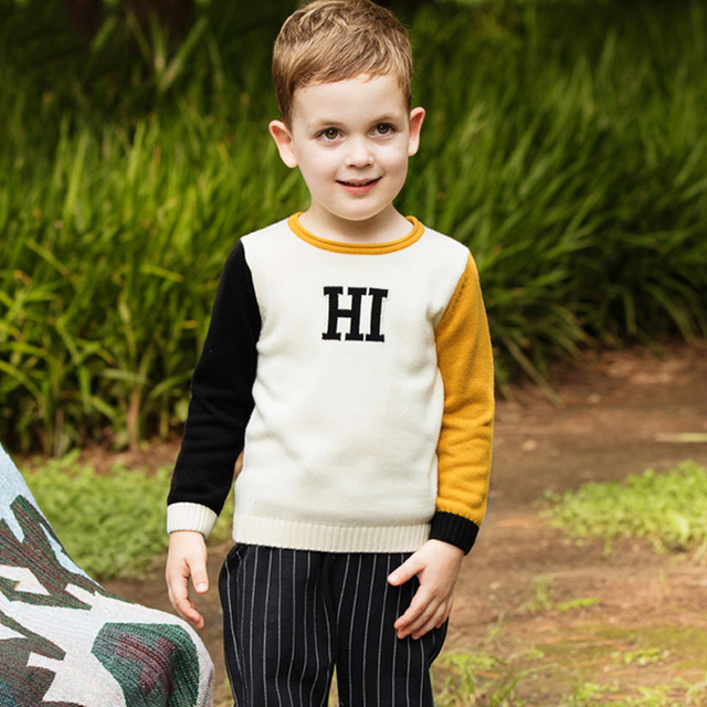 6fe7543f1 Boys Sweaters Girls Clothing 2017 Autumn Winter Clothes Pullover ...