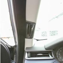 Carbon Fiber Style ABS Plastic Pillar Post Covers Trim For Landrover Range Rover VELAR 2017 Car Accessories 2PCS