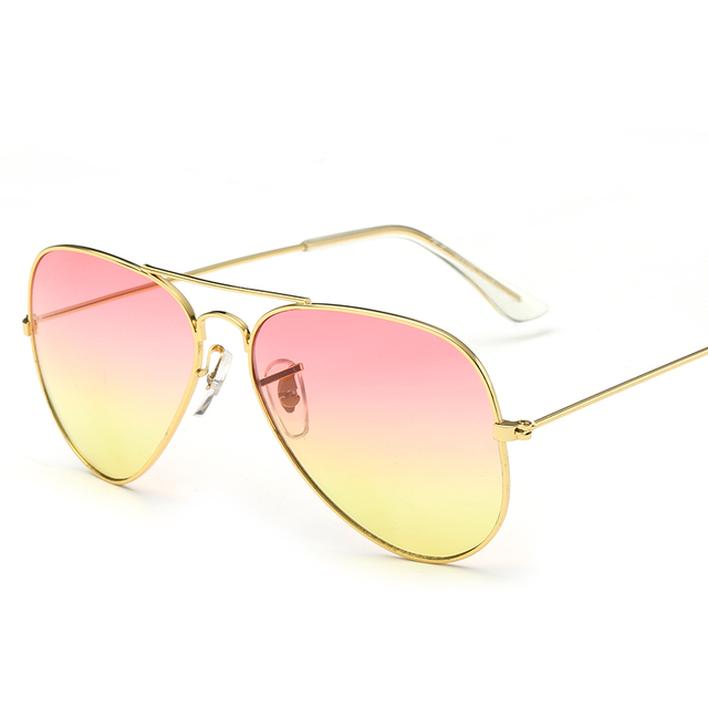 7ef51b59e4 10Pcs Lot Wholesale Rays Style Women Aviator Sunglasses Brand Designer  Glasses Ye Oceanic Color Lenses Sea Beach Sunglasses