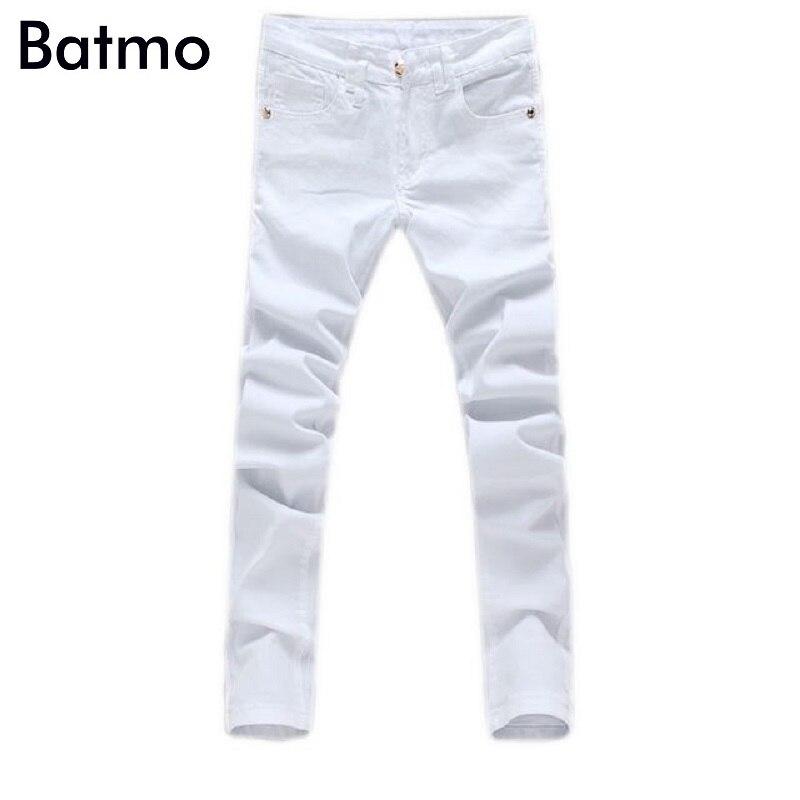 Haute qualité! 2019 nouveauté blanc hommes jeans, mode jeans hommes calca jeans 100% coton hommes pantalons vente chaude