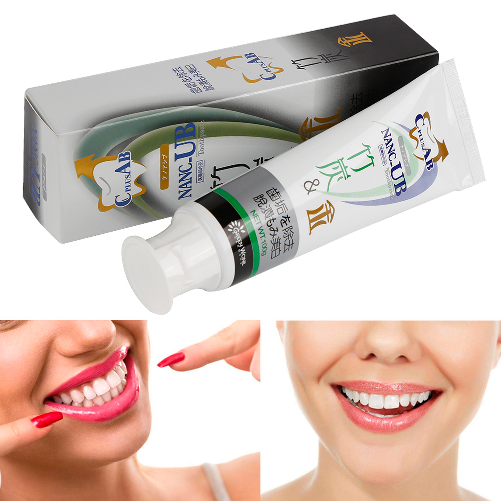Y&W&F 100g Nano Bamboo Charcoal Teeth Whitening Clean Stains Remove Halitosis Significantly Charcoal Gold Toothpaste Toothbrush image