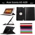 Новый A3 A20 личи шаблон PU кожаный чехол для Acer Iconia Tab 10.1 '' A3-A20 стенд планшет обложка + защитные пленки + стилус