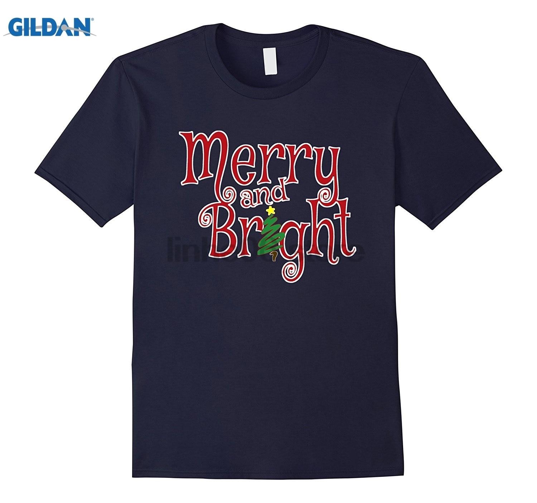 GILDAN Christmas Merry and Bright T-Shirt [Cute Xmas Shopping Tee] Mothers Day Ms. T-shirt
