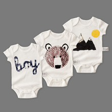 Baby 3pcs/set Cotton Short Sleeved Clothing Spring And Summer Crawl Bottoming Shirt Clothing For Kids Cute Summer Clothes Boys
