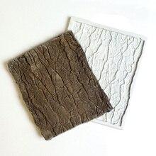 Дерево кора помадка силиконовая форма Кондитерские печенья шоколадная форма печенье конфеты ледяной куб глина форма для выпечки торта украшения инструменты