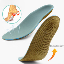 EID Premium Cork sole Orthopedic Insoles for Flat Foot Arch Support Shoes Pad Correct O X Leg Valgus insoles for feet