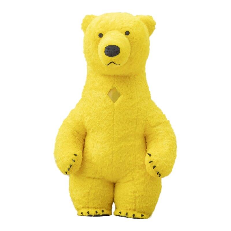 Rússia urso Polar inflável traje cosplay para adulto 1.7 M-195 M vestido de festa