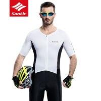 2017 Santic мужские летние Майки спортивные Pro Гонки 4D мягкий MTB дорожный велосипед Джерси дышащий UV400 быстросохнущая Велосипедный Спорт Костюмы