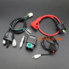 Wiring Loom Harness Kill Switch Racing Ignition Coil 5 Pin AC CDI C7HSA Spark Plug Kits For 110-125CC Pit Dirt Bike NEW