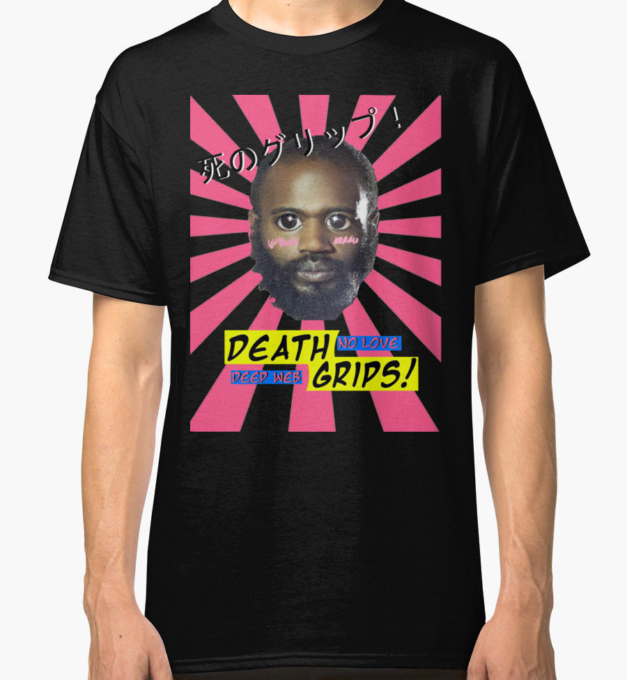 Death Grips No Love Desu Web Men s Black Tees Shirt Clothing