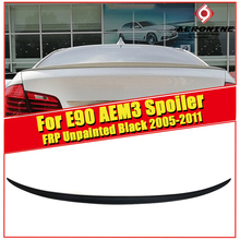 E90 M3 Style Car Styling FRP Unpainted Auto Trunk Rear Spoiler Lip Wing For BMW 325i 330i 335i 320d 325d Trunk Spoiler 2005-2011 black frp auto rear tail trunk lid boot spoiler lip wing for bmw e90 sedan 4 door 05 08 m3 320i 323i 325i 330i 335i csl style