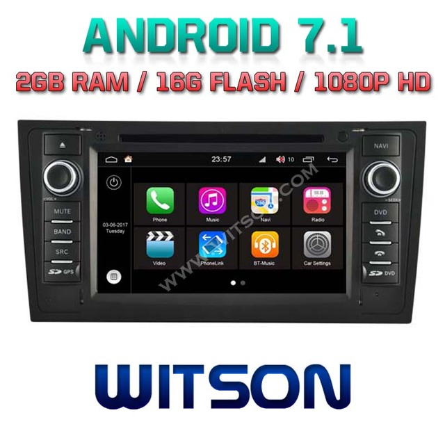 US $339 39 |WITSON S190 Android 7 1 Quad Core 2GB RAM 16GB ROM CAR DVD for  AUDI A6 1997 2004 GPS navigation radio+DVR/WIFI+DSP+DAB+OBD+3G-in Vehicle