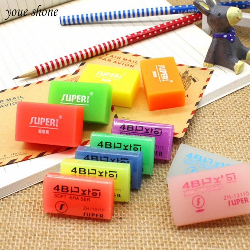 1 Piezas De Goma Suave De La Jalea Goma Color Oficina Transparente Lápiz Limpio Novedad Estudiante Modelo De Dibujos Animados Kawaii De La Escuela