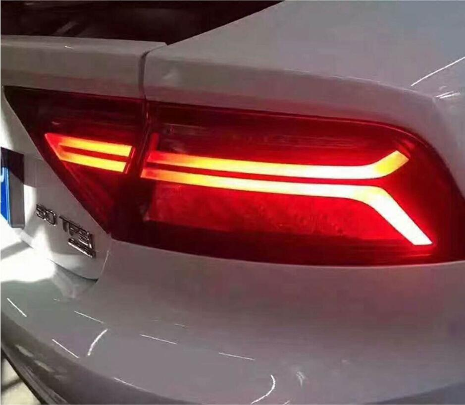 Car Styling For A7 Tail Light Assembly 2011 2017 LED Tail Lights Rear Lamp moving turn