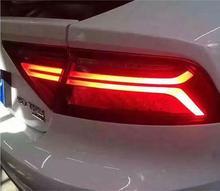 A7用カースタイリングテールライトアセンブリ2011〜2017 ledテールライトリアランプ移動ターンシグナルライト、a7テールライトアクセサリー