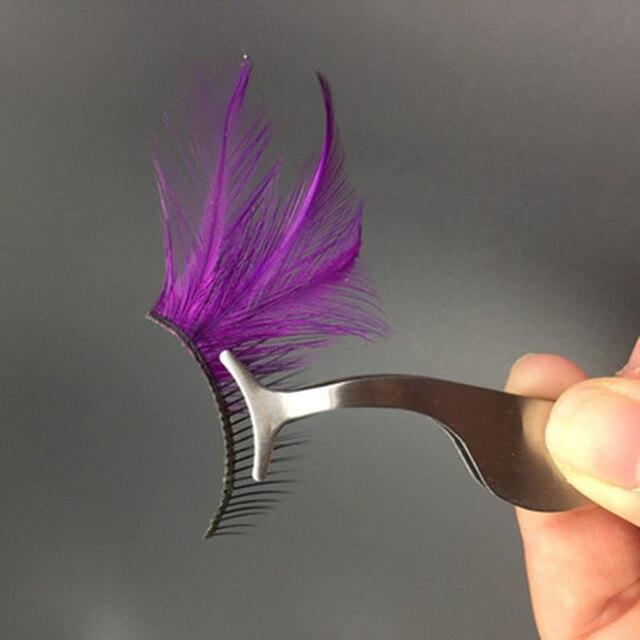 Stainless Steel Eyelash Extension Tweezers Eyebrow Hair Removal Tweezers Pince A Epiler