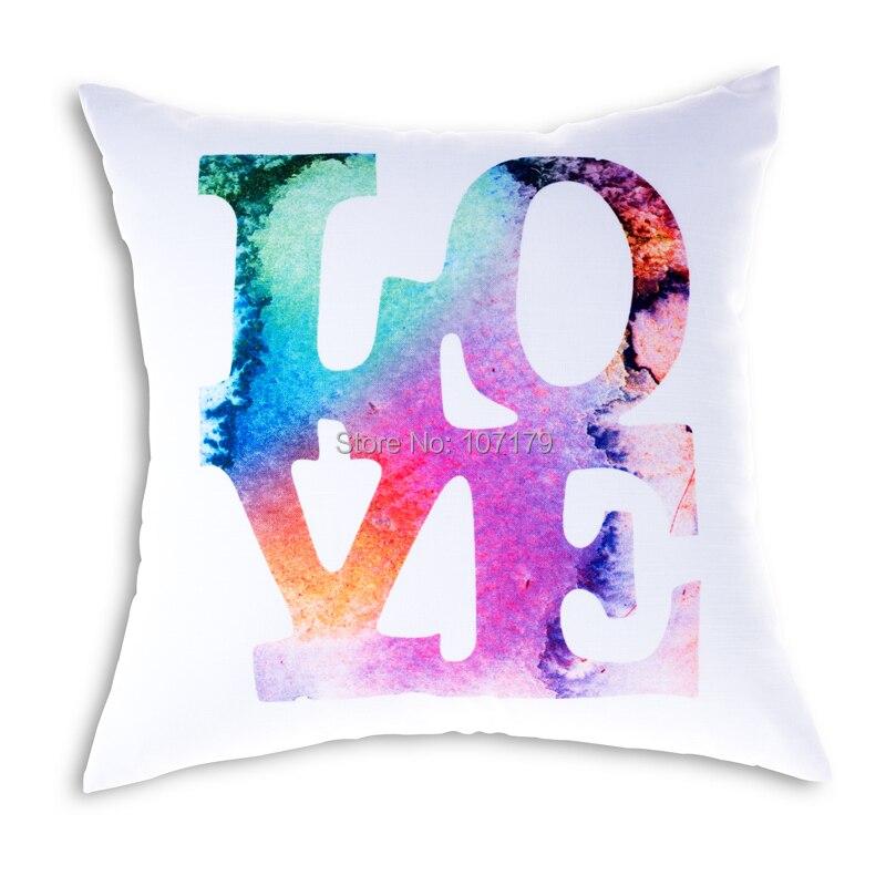 a3111cd5fb94 Descuento moda emoji Almohadas decorar inicio Cojines 45 45 cm impreso  Cojines cartas funda de almohada coche sofá set envío libre