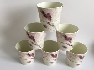 Image 2 - 6 Pz/lotto D10.5xH10CM Mini Vaso per la Decorazione di Cerimonia Nuziale Lavanda centro della tavola di Ferro vasi di fiori