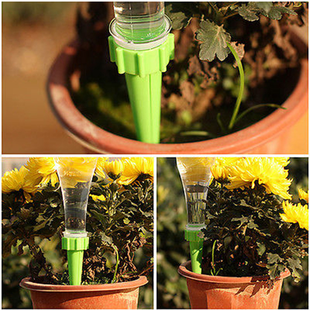 12pcs Automatic Watering Irrigation Spike Kits System Garden Plant Flower Drip Sprinkler For Energy Saving Plant Watering Tools