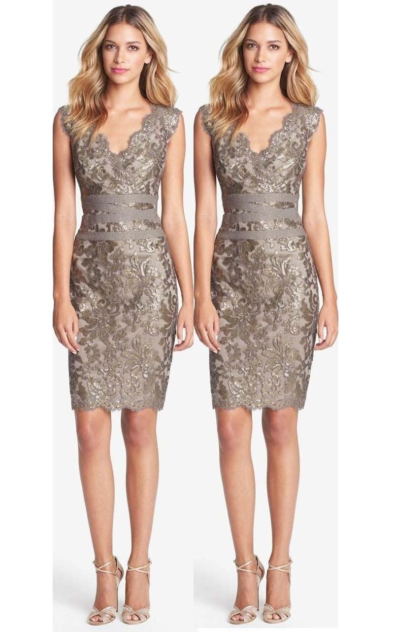 Sexy V Neck Above Knee Sheath Short Lace Party   Dress   Prom   Dress   2015 Vestidos robe de   cocktail     Dresses