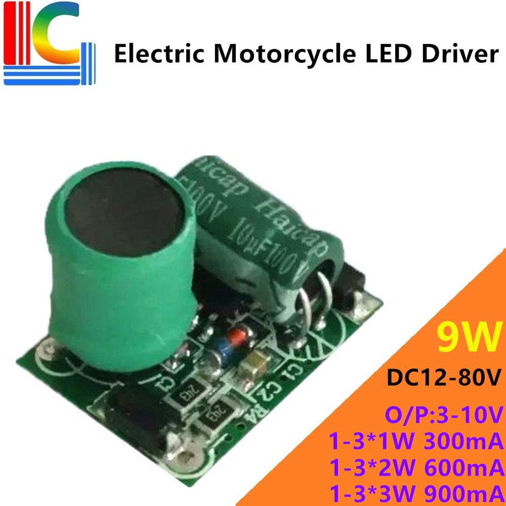Automobile electric vehicle motorcycle <font><b>LED</b></font> lights <font><b>Driver</b></font> DC 12V to 80V Output 3V - 10V 350mA 750mA 900mA Power Supply image