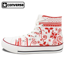 Merry Christmas Original Design Shoes Converse All Star Custom Hand Painted High Top Canvas Sneakers Men Women Unique Gifts