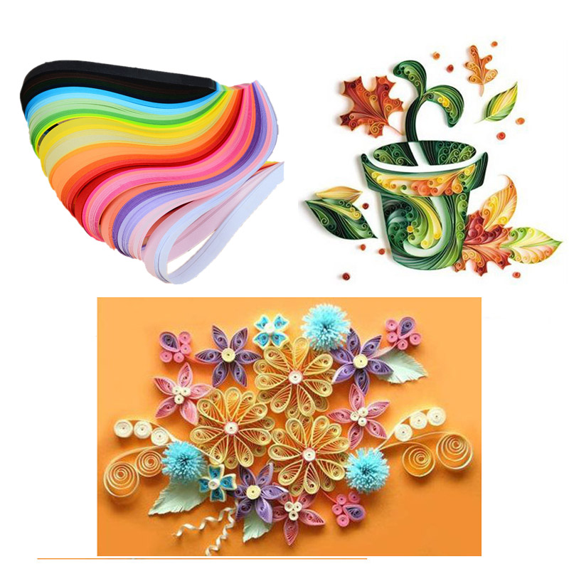 Image 2 - 260 paper quilling strips set 3mm/ 5mm/ 7mm/ 10mm 39cm flower gift paper Glue Applicator for craft DIY Quilling handmade Tools-in Craft Paper from Home & Garden