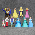 10pcs/lot New Princess Figures Beauty and The Gaston Cinderella Sofia Snow white Belle Figure Toy
