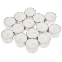 50pcs 8 Hours No Aromatherapy Candles White Church Cup shaped Candles Modern Home Party Table Supplies Drop Shipping